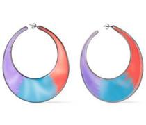 Silver-tone Enamel Earrings Light Blue Size --