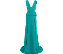 Lubelia Cutout Stretch-crepe Gown Türkis