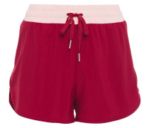 Zweifarbige Shorts aus Stretch-material