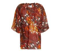 Ramba Bedruckte Bluse aus Baumwolle