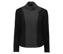 Sean Felt-paneled Quilted Stretch-cotton Twill Jacket Schwarz