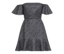 Amelia Off-the-shoulder Polka-dot Neoprene Mini Dress