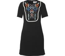 Atari Embellished Crepe Mini Dress Schwarz