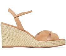 Rosemarie Suede Espadrille Wedge Sandals