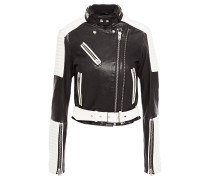 Lukka Two-tone Leather Biker Jacket