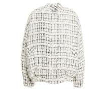Molina Oversized Metallic Bouclé-tweed Bomber Jacket