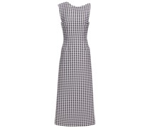 Ceilani Open-back Gingham Cloqué Midi Dress