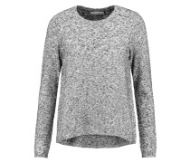 Slub Knitted Sweater Grau