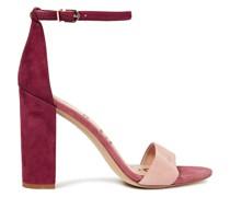 Yaro Color-block Suede Sandals