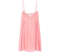 Idris pointelle-trimmed silk-organza mini dress