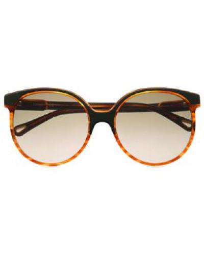Round-frame Acetate Sunglasses Light Brown Size --