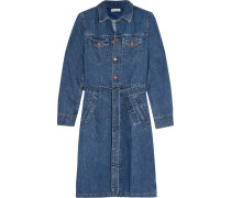 Belted Denim Shirt Dress Mittelblauer Denim