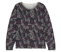Eloisa Floral-print Cotton And Cashmere-blend Sweater