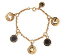 Gold-tone And Enamel Bracelet Schwarz