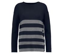 Weiss Striped Wool Sweater Navy