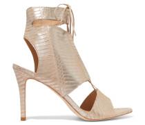 Scarlet Metallic Elaphe Sandals Silber