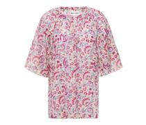 Cherie Bedruckte Bluse aus Baumwolle mit Raffung