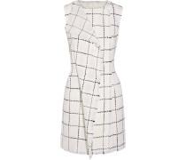 Wrap-effect Wool-tweed Mini Dress Weiß