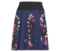 Printed Jersey Mini Skirt Navy