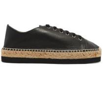 Orlanda leather platform espadrille sneakers