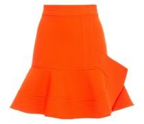 Fluted Crepe Mini Skirt