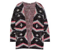 Maori Jacquard-knit Cotton-blend Cardigan Mehrfarbig