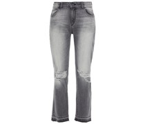 Mara Halbhohe Cropped Jeans mit Geradem Bein in Distressed-optik