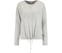 Luxe Wool And Cashmere-blend Sweater Hellgrau