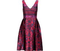 Pleated Jacquard Dress Mehrfarbig