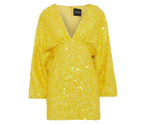 Aubrielle Sequined Chiffon Mini Dress