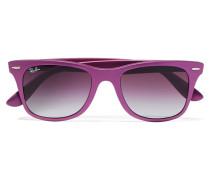 D-frame Metallic Acetate Sunglasses Magenta