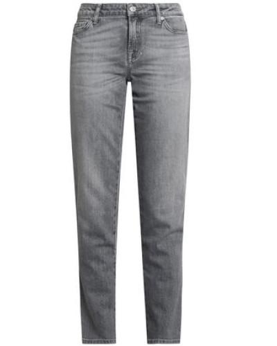 Faded Mid-rise Slim-leg Jeans Gray