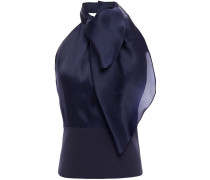 Open-back Draped Mulberry Silk Top