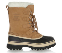 Caribou Waterproof Suede And Rubber Boots Braun