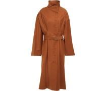 Mantel aus Einer Baumwollmischung mit Gürtel