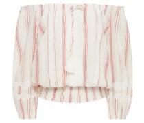 Azura Off-the-shoulder Striped Cotton-gauze Top