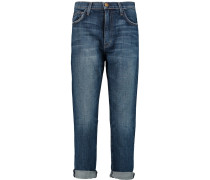 The Slouchy Mid-rise Straight-leg Jeans Mittelblauer Denim