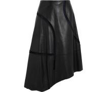 Eska Embroidered Cutout Leather Skirt Schwarz