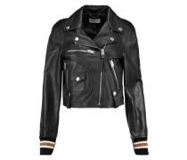 Varsity Moto leather biker jacket