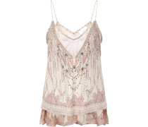 Layered Printed Fil Coupé Silk-blend Camisole