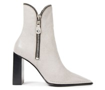 Lane Zip-detailed Pebbled-leather Ankle Boots