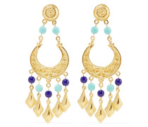 Gold-tone Stone Earrings Blau