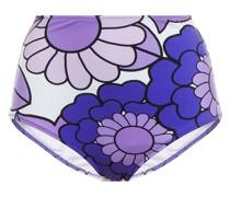 Lulu Hoch Sitzendes Bikini-höschen mit Floralem Print