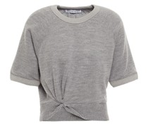 Cropped Twist-front Wool Top
