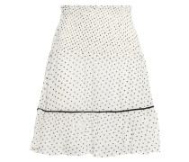 Rometty Shirred Printed Georgette Mini Skirt