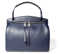 Blunt Medium Leather Shoulder Bag Navy