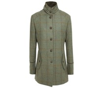 Karierter Mantel aus Woll-tweed