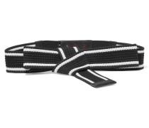 Knotted Canvas Belt Schwarz