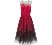 Fla Appliquéd Tulle Midi Dress