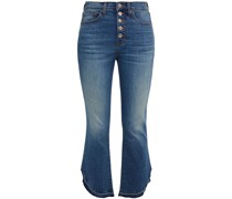 Carolyn Faded High-rise Bootcut Jeans